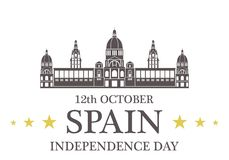 Independence Day. Spain Stock Photography