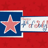 Independence Day. Square 4th of July Card in vector format Royalty Free Stock Photo