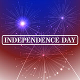 Independence day stamp background with American flag colors and fireworks. 4th of july, illustration. Royalty Free Stock Photo