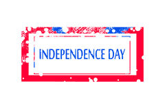 Independence day. stamp for 4th July or 15th August Royalty Free Stock Image