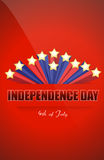 Independence day star Royalty Free Stock Photo