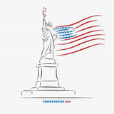 Independence day statue of liberty Stock Photo