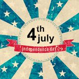 Independence day sticker Stock Images