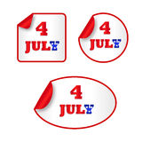 Independence day stickers Royalty Free Stock Images