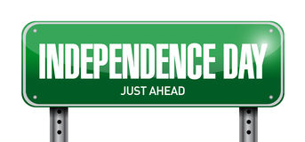 independence day street sign illustration design Stock Images