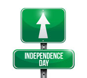 independence day street sign illustration design Stock Image