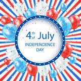 Independence day striped background Stock Photos