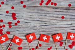 Independence day Switzerland, August 1. Federal holiday in honor of the founding of the Swiss Confederation. day of the. AUGUST 01 Concept independence day of royalty free stock images