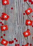 Independence day Switzerland, August 1. Federal holiday in honor of the founding of the Swiss Confederation. day of the. AUGUST 01 Concept independence day of royalty free stock image