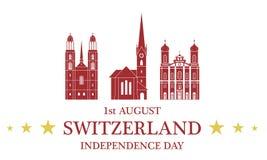 Independence Day. Switzerland Stock Photos