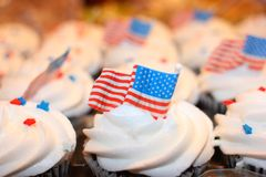 Independence day tasty cupcakes Royalty Free Stock Photography