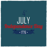 Independence Day. Text on blue background royalty free illustration
