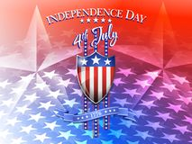 Independence Day 4th July Background. American Flag on Shield 4th July Celebration Background Royalty Free Stock Images