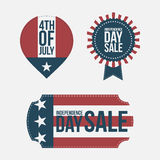 Independence Day 4th of July Banners Set Royalty Free Stock Photo