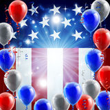 Independence Day 4th of July Concept. A patriotic American USA 4th July independence day or veterans day background with red white and blue party balloons Stock Photography