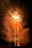 Independence day 4th of July fireworks at Coney Island Brooklyn NY 2017. Royalty Free Stock Photography