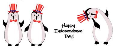 Independence day 4 th july. Happy independence day. American flag. Character animal in american hat royalty free illustration