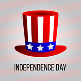Independence day 4 th july. Happy independence day uncle sam hat. Vector illustration Stock Photo