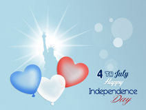 Independence Day, 4th of July. Illustration of balloons for Independence Day Royalty Free Stock Image