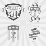 Independence Day 4th of July Labels Collection. Independence Day 4th of July festive Labels Collection. Vector Illustration Royalty Free Stock Photography