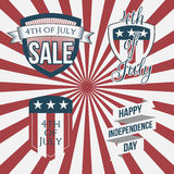 Independence Day 4th of July Labels Collection Stock Photography