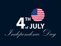 Independence day 4th of July. Patriotic greeting card, US holiday. Vector. Illustration vector illustration