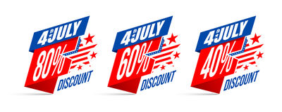Independence day 4 th july Sale and Discount Stock Photo