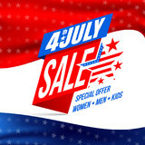 Independence day 4 th july Sale and Discount Stock Photos