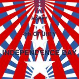 Independence Day, 4th of July. With stars royalty free illustration