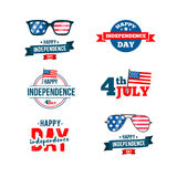 Independence day 4th of July typographic design. Royalty Free Stock Photo