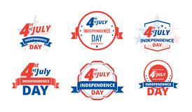Independence Day 4 th of July, USA. Logo independence day United States of America. Independence Day 4 th of July, USA. Logo independence day United States of Royalty Free Stock Photo