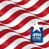Independence Day 4th of July USA ribbon greeting card. Poster background banner vector Stock Images