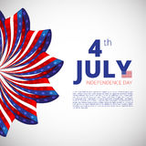 Independence day of 4th july. Vector illustration Stock Photography