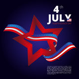 Independence day of 4th july. Vector illustration. Stock Photo