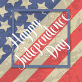 Independence day typographic element Royalty Free Stock Photos