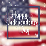 Independence day typographic element Stock Image