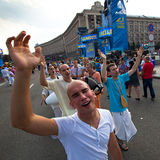 Independence Day of Ukraine in Kiev Royalty Free Stock Photography