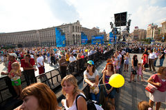 Independence Day of Ukraine in Kiev Royalty Free Stock Images