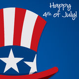 Independence Day. Uncle Sam hat Independence Day card in  format Stock Photos