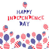 Independence day6. United Stated independence day greeting. Fourth of July typographic design. Usable as greeting card, banner, background.Vector illustration Stock Photo