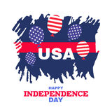 Independence day3. United Stated independence day greeting. Fourth of July typographic design. Usable as greeting card, banner, background.Vector illustration Royalty Free Stock Photos
