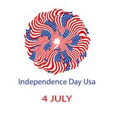 Independence Day United States of America. Mandala from the USA flag. Vector illustration on isolated background. Independence Day United States of America Royalty Free Stock Image
