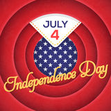 Independence Day. United States of America 4th of July Happy Independence Day Announcement Celebration Message Poster, Flyer, Card, Background Vector Design royalty free illustration