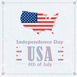 Independence Day. United States of America 4th of July Happy Independence Day Announcement Celebration Message Poster, Flyer, Card, Background Vector Design Stock Photography