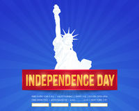 Independence Day. United States of America 4th of July Happy Independence Day Announcement Celebration Message Poster, Flyer, Card, Background Vector Design Royalty Free Stock Photo