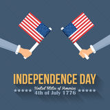 Independence Day. United States of America 4th of July Happy Independence Day Announcement Celebration Message Poster, Flyer, Card, Background Vector Design Stock Photo