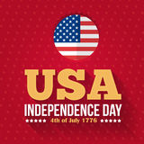 Independence Day. United States of America 4th of July Happy Independence Day Announcement Celebration Message Poster, Flyer, Card, Background Vector Design Stock Images