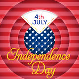 Independence Day. United States of America 4th of July Happy Independence Day Announcement Celebration Message Poster, Flyer, Card, Background Vector Design Royalty Free Stock Photography