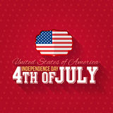 Independence Day. United States of America 4th of July Happy Independence Day Announcement Celebration Message Poster, Flyer, Card, Background Vector Design Stock Photos