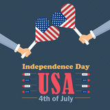 Independence Day. United States of America 4th of July Happy Independence Day Announcement Celebration Message Poster, Flyer, Card, Background Vector Design Royalty Free Stock Images